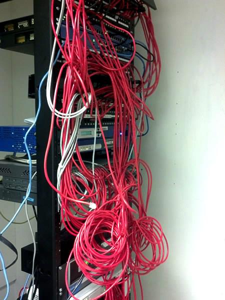 Data rack before Phone Link organized it